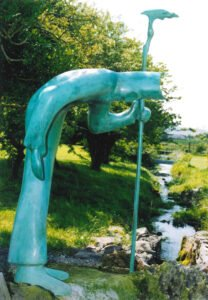 Sculpture of St Patrick by Brother McNally at St Patrick's Well in Ballintubber